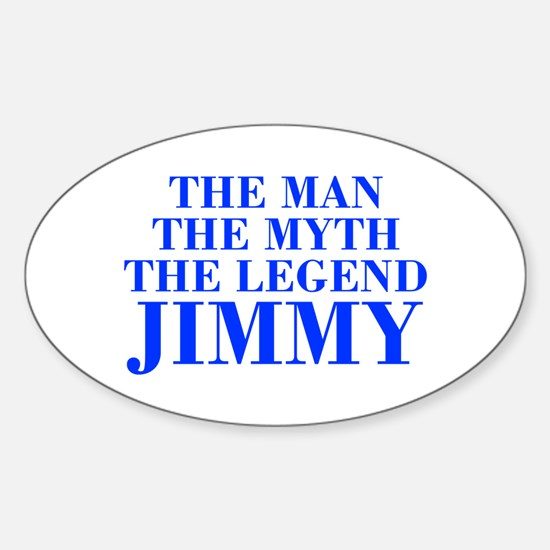 The Man Myth Legend JIMMY-bod blue Decal