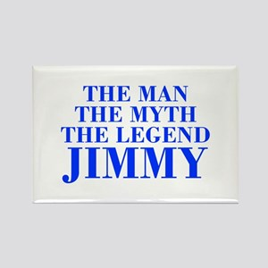 The Man Myth Legend JIMMY-bod blue Magnets