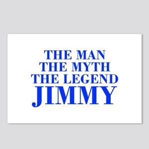 The Man Myth Legend JIMMY-bod blue Postcards (Pack
