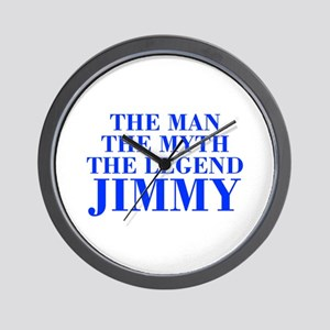 The Man Myth Legend JIMMY-bod blue Wall Clock