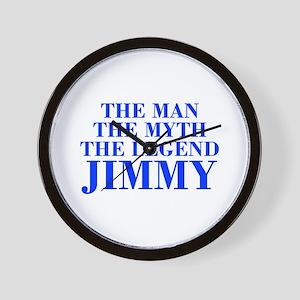 The Man Myth Legend JIMMY-bod blue Wall Clock