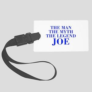 The Man Myth Legend JOE-bod blue Luggage Tag