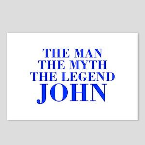 The Man Myth Legend JOHN-bod blue Postcards (Packa