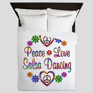 Peace Love Salsa Queen Duvet