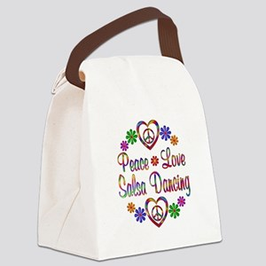 Peace Love Salsa Canvas Lunch Bag