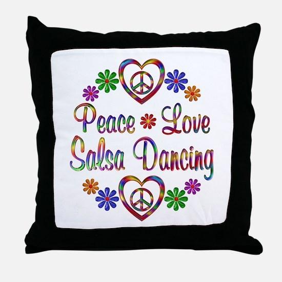 Peace Love Salsa Throw Pillow