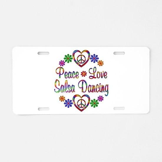 Peace Love Salsa Aluminum License Plate