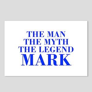 The Man Myth Legend MARK-bod blue Postcards (Packa