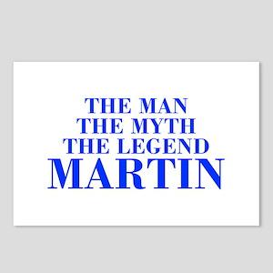 The Man Myth Legend MARTIN-bod blue Postcards (Pac