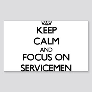 Keep Calm and focus on Servicemen Sticker