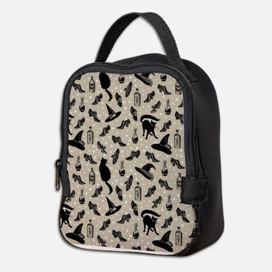 vintage witchy Neoprene Lunch Bag