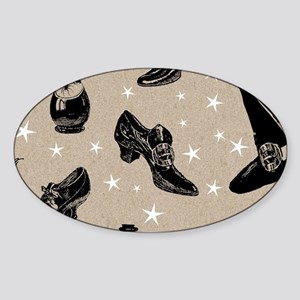 vintage witchy Sticker (Oval)
