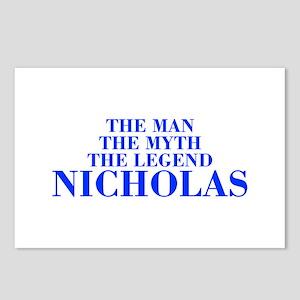 The Man Myth Legend NICHOLAS-bod blue Postcards (P