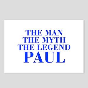 The Man Myth Legend PAUL-bod blue Postcards (Packa