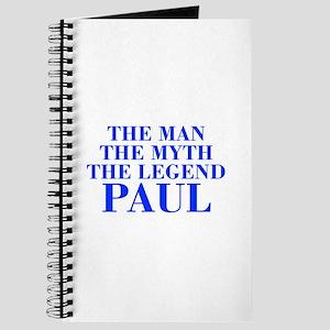 The Man Myth Legend PAUL-bod blue Journal
