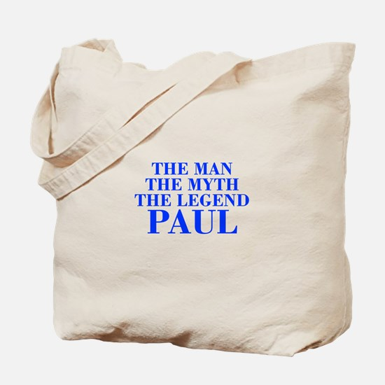 The Man Myth Legend PAUL-bod blue Tote Bag