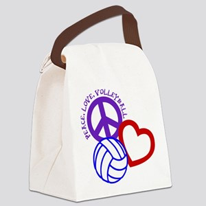 PEACE, LOVE, VOLLEYBALL Canvas Lunch Bag