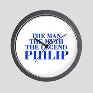 The Man Myth Legend PHILIP-bod blue Wall Clock