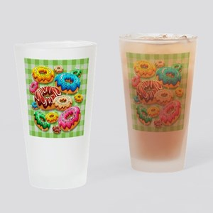 Donuts Party Time Drinking Glass