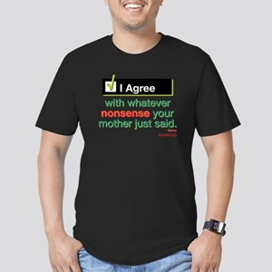 I Agree Men's Fitted T-Shirt (dark)