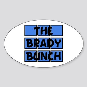 Brady Bunch Sticker (Oval)