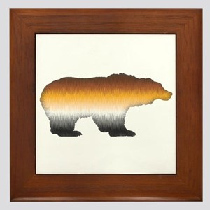 FURRY BEAR PRIDE BEAR CUTOUT Framed Tile