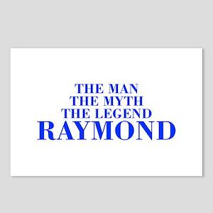 The Man Myth Legend RAYMOND-bod blue Postcards (Pa