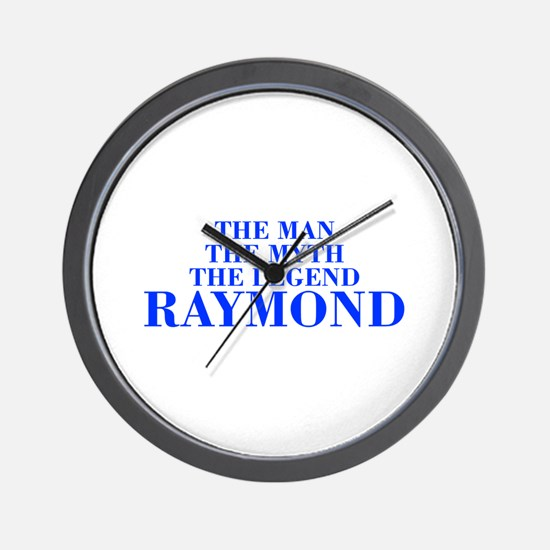 The Man Myth Legend RAYMOND-bod blue Wall Clock