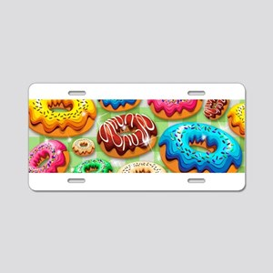 Donuts Party Time Aluminum License Plate