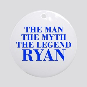 The Man Myth Legend RYAN-bod blue Ornament (Round)