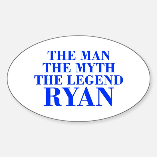 The Man Myth Legend RYAN-bod blue Bumper Stickers