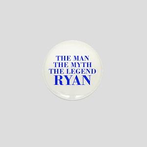 The Man Myth Legend RYAN-bod blue Mini Button