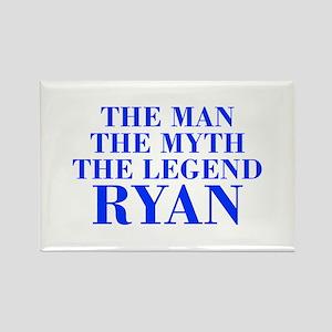 The Man Myth Legend RYAN-bod blue Magnets