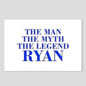 The Man Myth Legend RYAN-bod blue Postcards (Packa