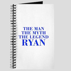The Man Myth Legend RYAN-bod blue Journal
