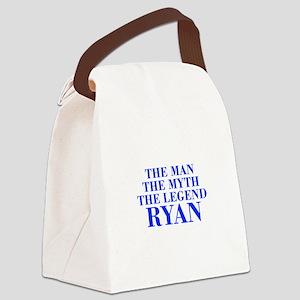The Man Myth Legend RYAN-bod blue Canvas Lunch Bag