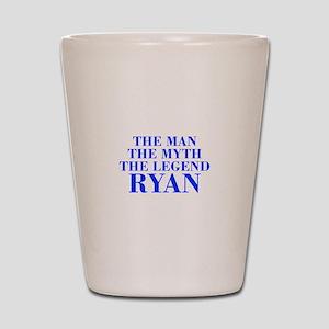 The Man Myth Legend RYAN-bod blue Shot Glass