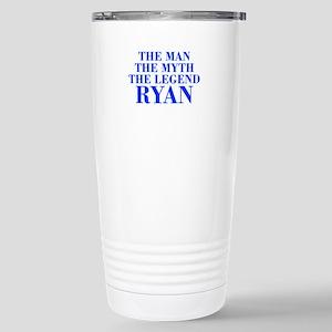 The Man Myth Legend RYAN-bod blue Travel Mug