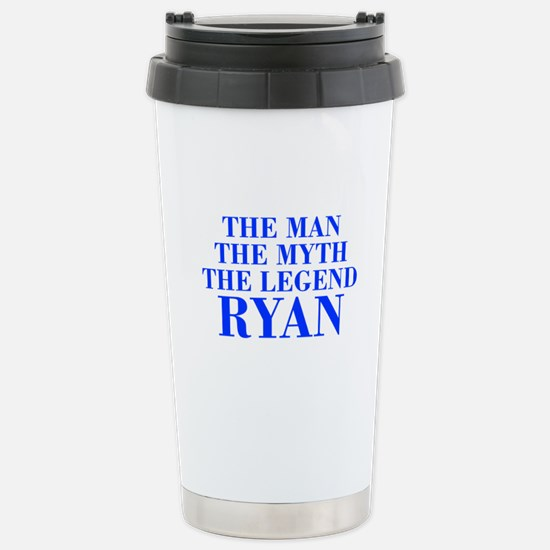The Man Myth Legend RYAN-bod blue Travel Mug