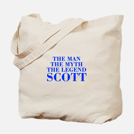The Man Myth Legend SCOTT-bod blue Tote Bag