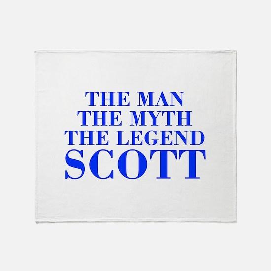 The Man Myth Legend SCOTT-bod blue Throw Blanket
