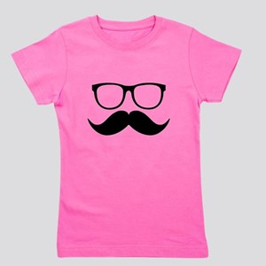 Mr. Stache Girl's Tee