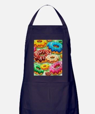 Donuts Party Time Apron (dark)
