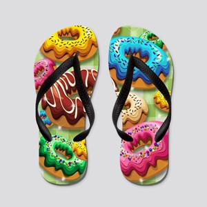 Donuts Party Time Flip Flops