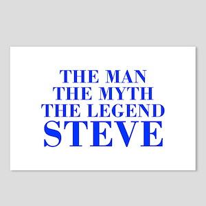 The Man Myth Legend STEVE-bod blue Postcards (Pack