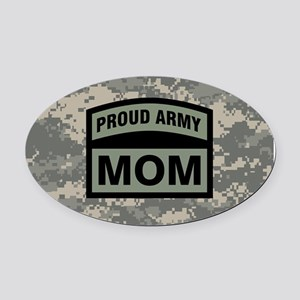 Proud Army Mom Camo Oval Car Magnet