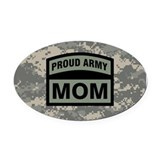 Army mom Oval Car Magnets