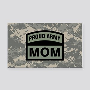 Proud Army Mom Camo Rectangle Car Magnet