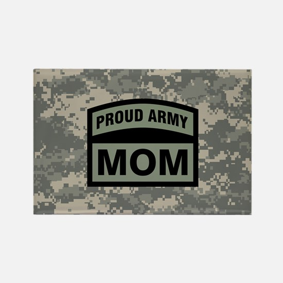 Proud Army Mom Camo Rectangle Magnet