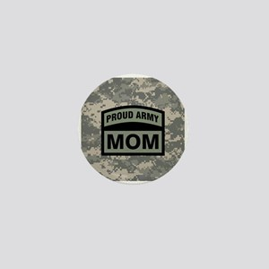 Proud Army Mom Camo Mini Button